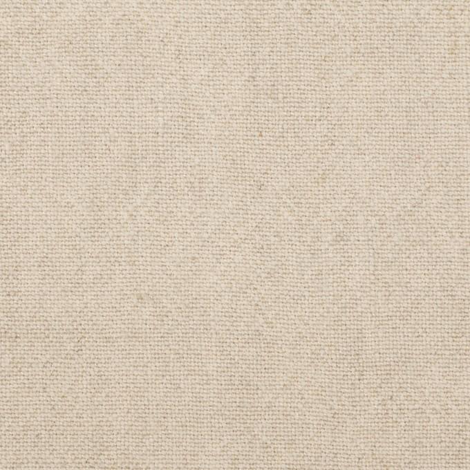 リネン&ウール×無地(グレイッシュベージュ)×キャンバス イメージ1