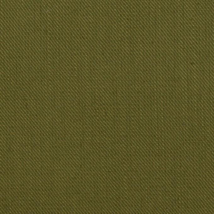 コットン&リネン×無地(カーキグリーン)×サージ イメージ1