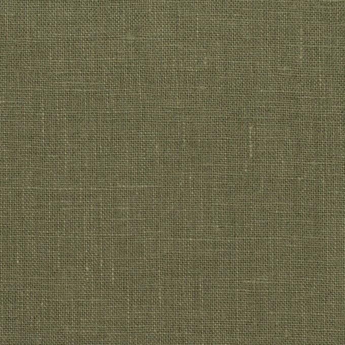 リネン×無地(アッシュカーキグリーン)×薄キャンバス イメージ1