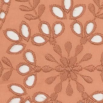 コットン×フラワー(テラコッタ)×ローン刺繍_全2色 サムネイル1