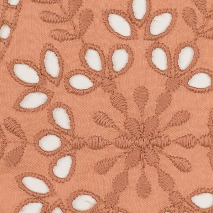 コットン×フラワー(テラコッタ)×ローン刺繍_全2色 イメージ1