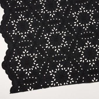 コットン×フラワー(ブラック)×ローン刺繍_全2色 サムネイル2