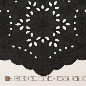 コットン×フラワー(ブラック)×ローン刺繍_全2色 サムネイル6