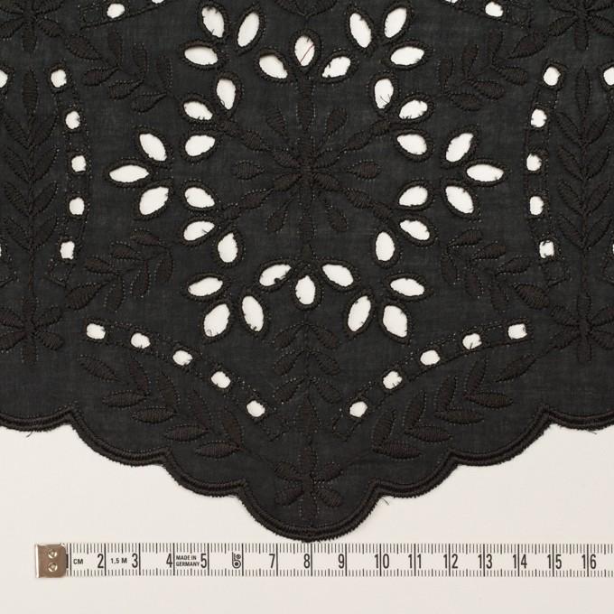 コットン×フラワー(ブラック)×ローン刺繍_全2色 イメージ6