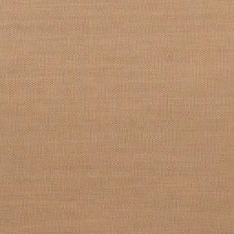 コットン&ポリウレタン×無地(オークル)×シャンブレー・ローンストレッチ_全2色