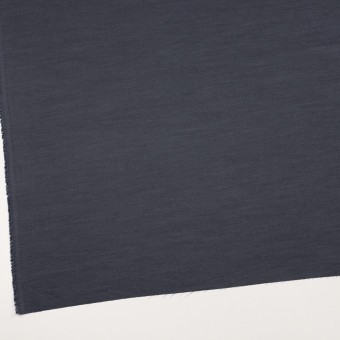 コットン&ポリウレタン×無地(アッシュネイビー)×シャンブレー・ローンストレッチ_全2色 サムネイル2