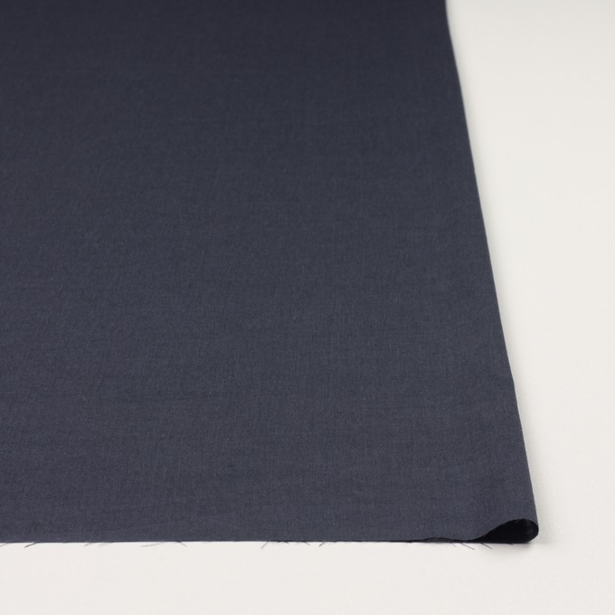 コットン&ポリウレタン×無地(アッシュネイビー)×シャンブレー・ローンストレッチ_全2色 イメージ3