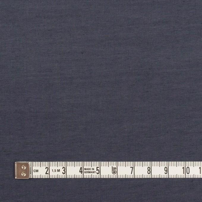 コットン&ポリウレタン×無地(アッシュネイビー)×シャンブレー・ローンストレッチ_全2色 イメージ4