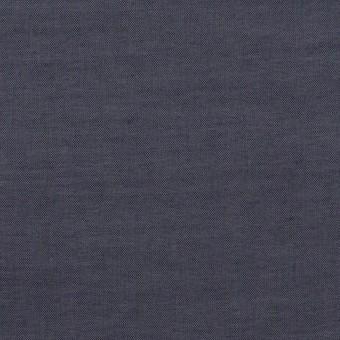 コットン&ポリウレタン×無地(アッシュネイビー)×シャンブレー・ローンストレッチ_全2色