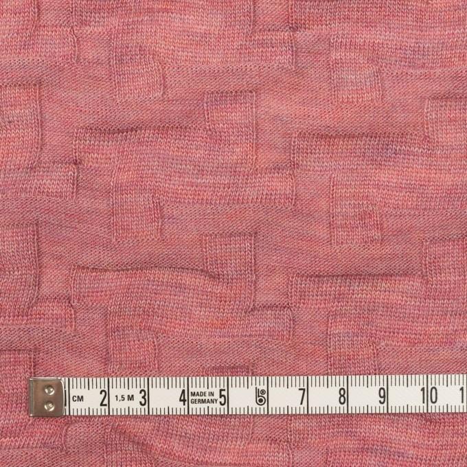 ウール&アクリル混×幾何学模様(ローズ)×ジャガードニット_全2色 イメージ4