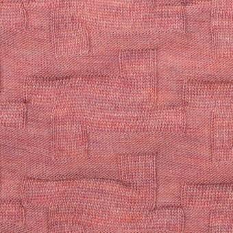 ウール&アクリル混×幾何学模様(ローズ)×ジャガードニット_全2色