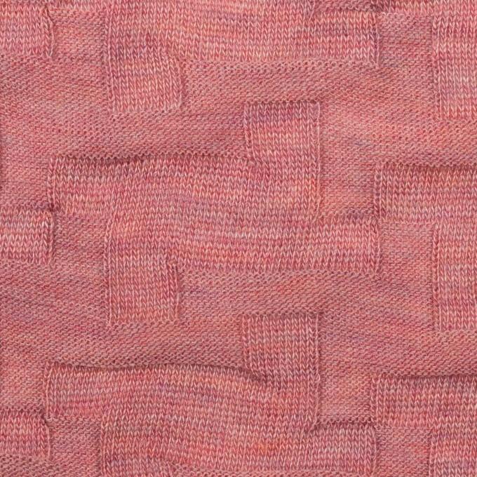 ウール&アクリル混×幾何学模様(ローズ)×ジャガードニット_全2色 イメージ1