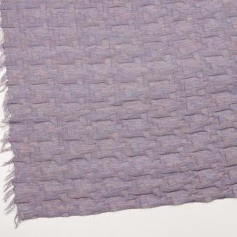 ウール&アクリル混×幾何学模様(モーブ)×ジャガードニット_全2色 サムネイル2