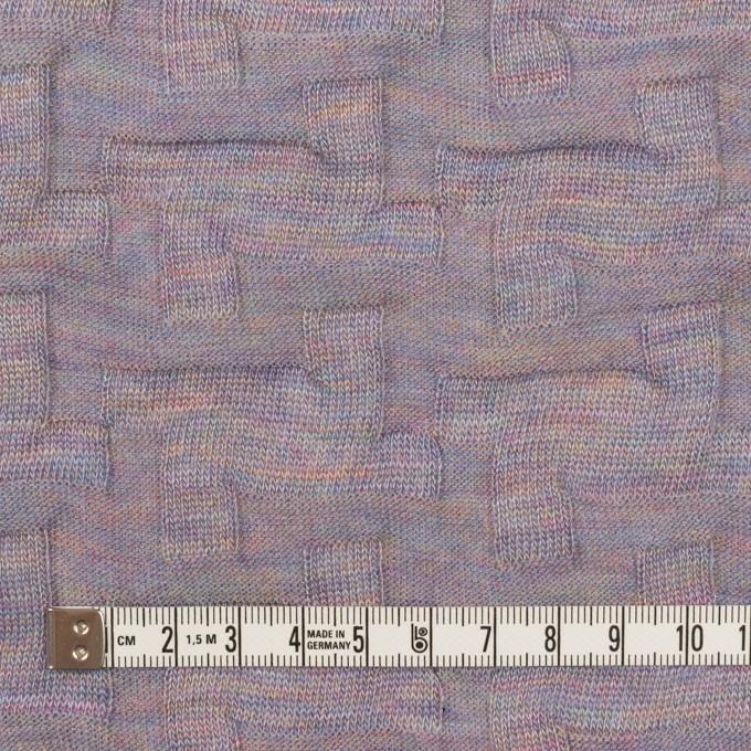 ウール&アクリル混×幾何学模様(モーブ)×ジャガードニット_全2色 イメージ4