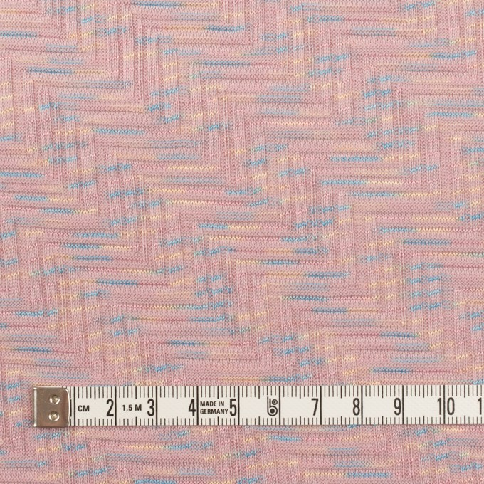 コットン×幾何学模様(ピンクベージュ)×ジャガードニット_全3色 イメージ4