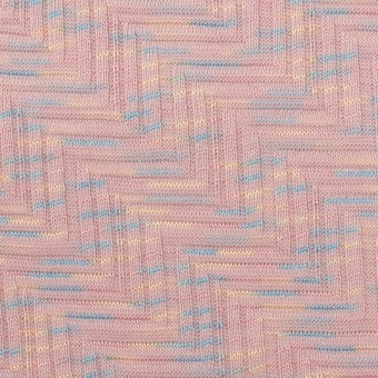 コットン×幾何学模様(ピンクベージュ)×ジャガードニット_全3色