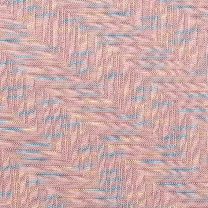 コットン×幾何学模様(ピンクベージュ)×ジャガードニット_全3色 イメージ1