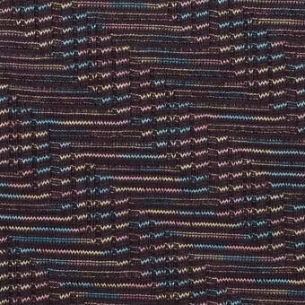 コットン×幾何学模様(チャコール)×ジャガードニット_全3色