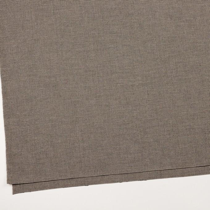 コットン&ポリウレタン×チェック(ベージュ&ブラック)×千鳥格子ストレッチ イメージ2