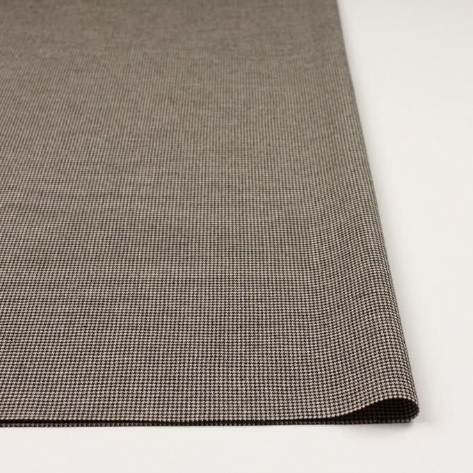 コットン&ポリウレタン×チェック(ベージュ&ブラック)×千鳥格子ストレッチ イメージ3