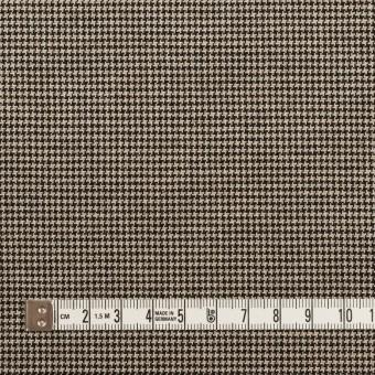 コットン&ポリウレタン×チェック(ベージュ&ブラック)×千鳥格子ストレッチ サムネイル4