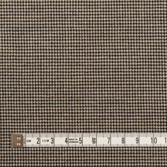 コットン&ポリウレタン×チェック(ベージュ&ブラック)×千鳥格子ストレッチ イメージ4