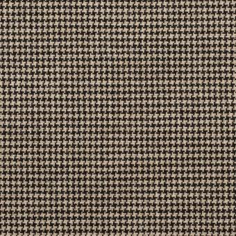 コットン&ポリウレタン×チェック(ベージュ&ブラック)×千鳥格子ストレッチ サムネイル1
