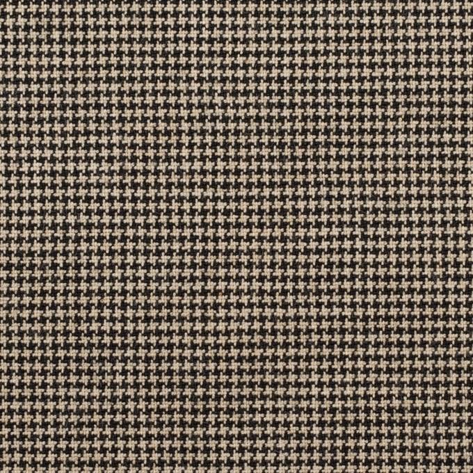 コットン&ポリウレタン×チェック(ベージュ&ブラック)×千鳥格子ストレッチ イメージ1