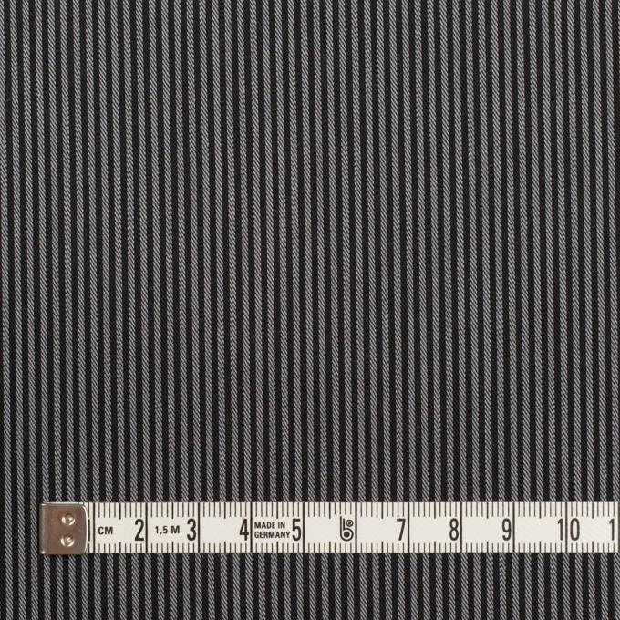 コットン&ポリエステル×ストライプ(チャコールグレー)×サージ イメージ4