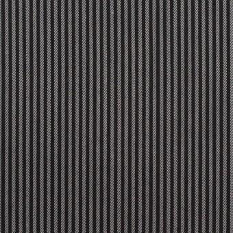 コットン&ポリエステル×ストライプ(チャコールグレー)×サージ