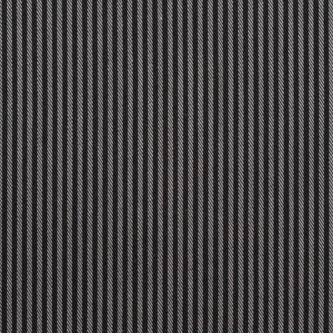 コットン&ポリエステル×ストライプ(チャコールグレー)×サージ イメージ1