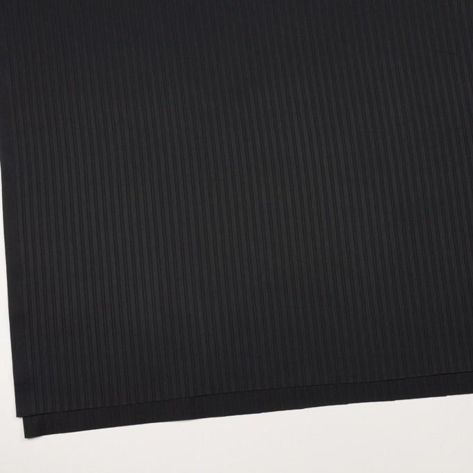 コットン×ストライプ(ブラック)×サテンジャガード_全2色 イメージ2