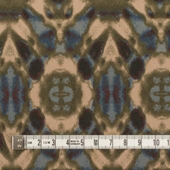 ポリエステル×ペイント(オークルベージュ&カーキグリーン)×ジョーゼット_パネル サムネイル4