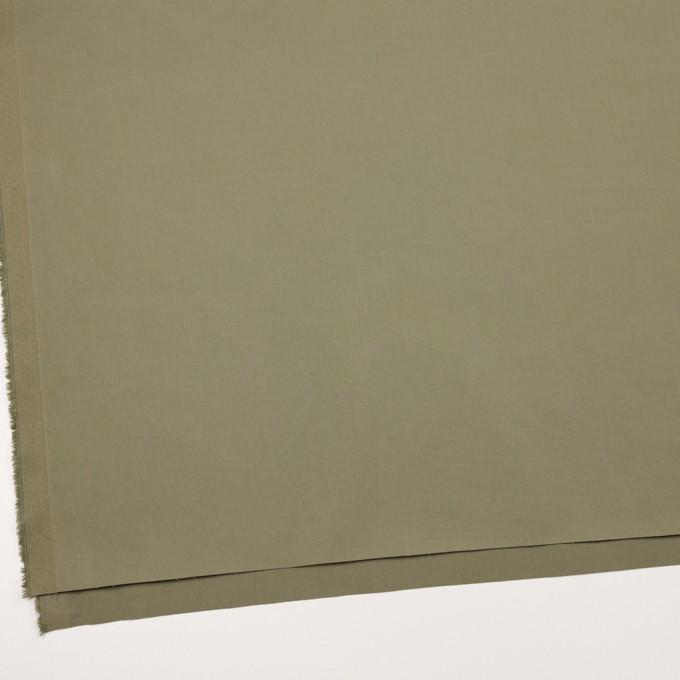 コットン&ポリウレタン×無地(アイビーグリーン)×高密サージ イメージ2