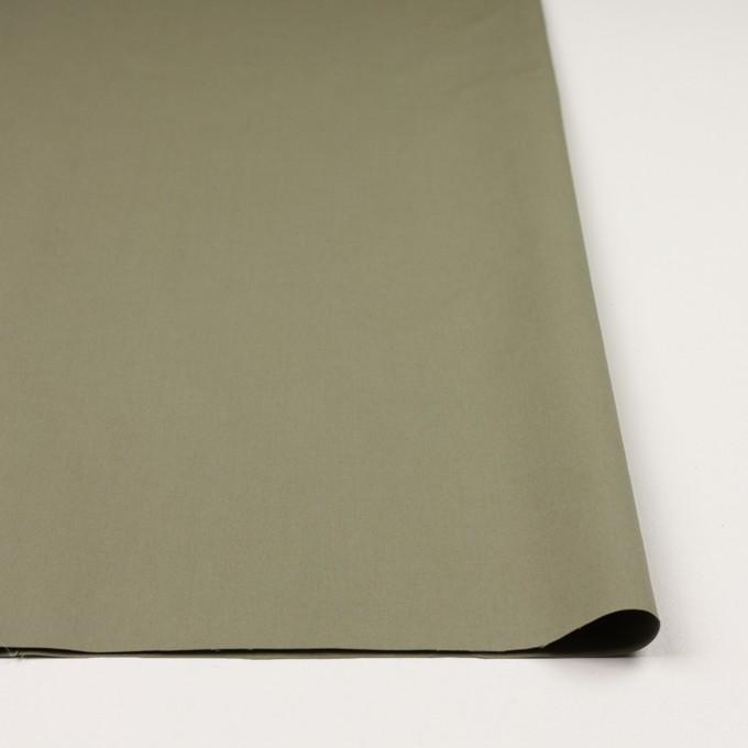 コットン&ポリウレタン×無地(アイビーグリーン)×高密サージ イメージ3