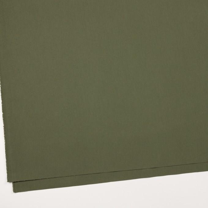 コットン×無地(カーキグリーン)×高密ブロード イメージ2