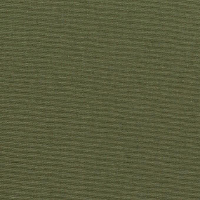 コットン×無地(カーキグリーン)×高密ブロード イメージ1
