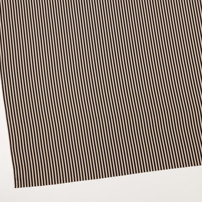 ポリエステル×ストライプ(ベージュ&ブラック)×ジョーゼット イメージ2