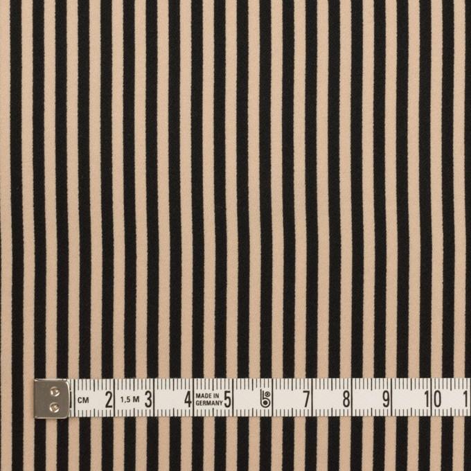 ポリエステル×ストライプ(ベージュ&ブラック)×ジョーゼット イメージ4
