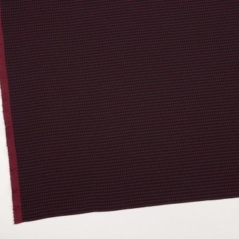 ポリエステル×ドット(ブラック&バーガンディー)×二重織 サムネイル2