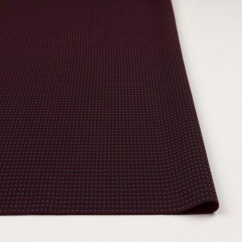 ポリエステル×ドット(ブラック&バーガンディー)×二重織 サムネイル3