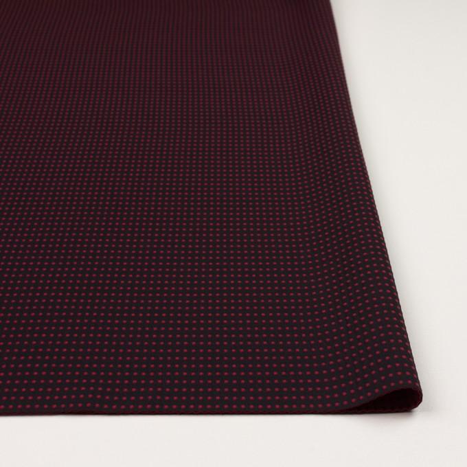 ポリエステル×ドット(ブラック&バーガンディー)×二重織 イメージ3