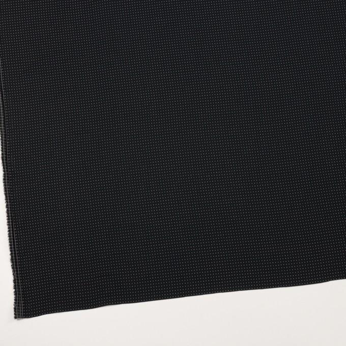 ポリエステル×ドット(チャコールブラック)×ジョーゼット・ドビー イメージ2