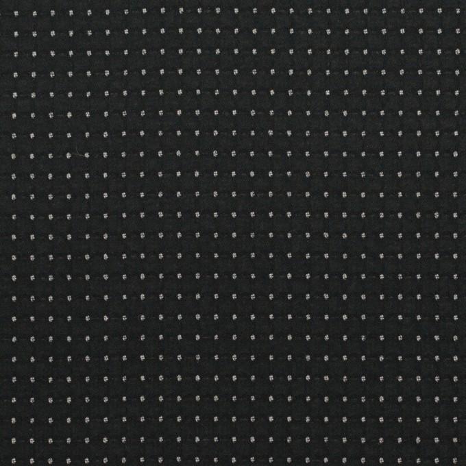 ポリエステル×ドット(チャコールブラック)×ジョーゼット・ドビー イメージ1