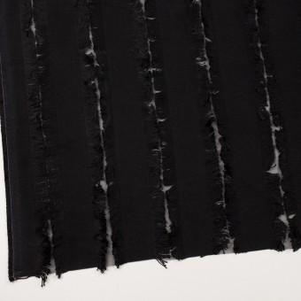 ポリエステル&コットン×ストライプ(ブラック)×ジャガード サムネイル2
