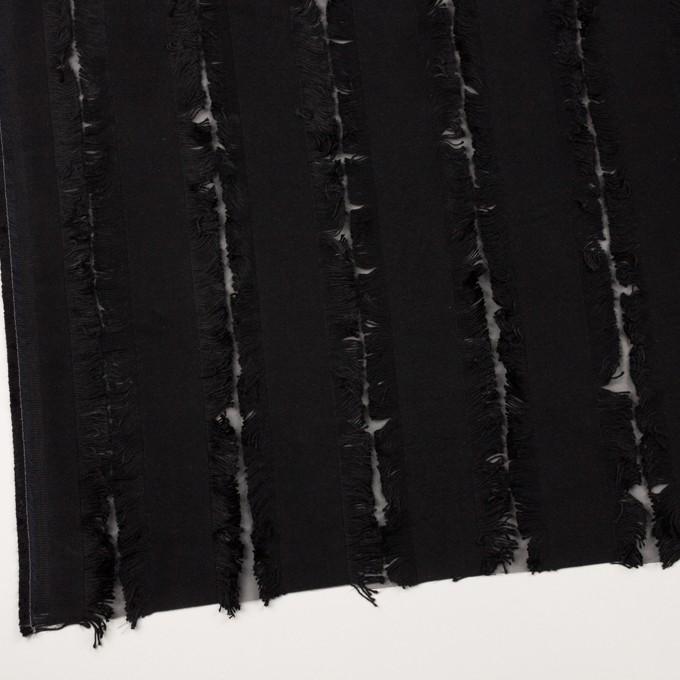 ポリエステル&コットン×ストライプ(ブラック)×ジャガード イメージ2