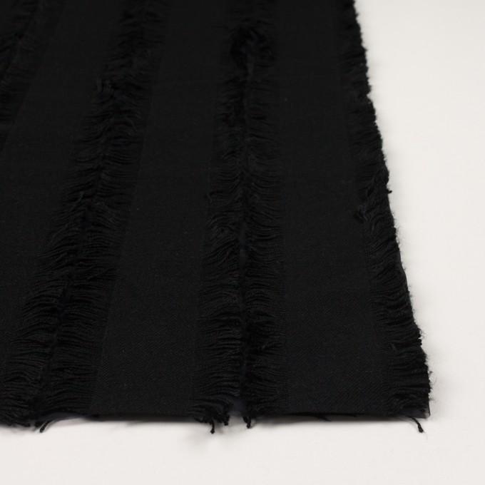 ポリエステル&コットン×ストライプ(ブラック)×ジャガード イメージ3