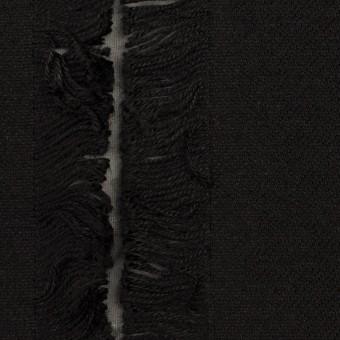 ポリエステル&コットン×ストライプ(ブラック)×ジャガード