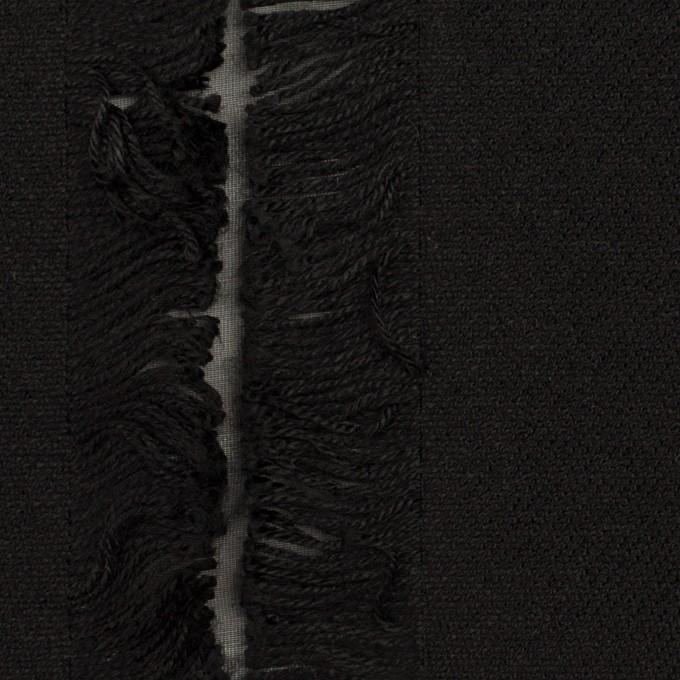 ポリエステル&コットン×ストライプ(ブラック)×ジャガード イメージ1