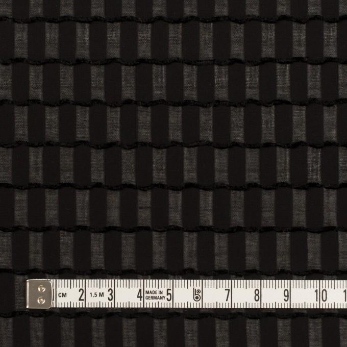 ポリエステル×スクエア(ブラック)×ジョーゼット・ジャガード イメージ4